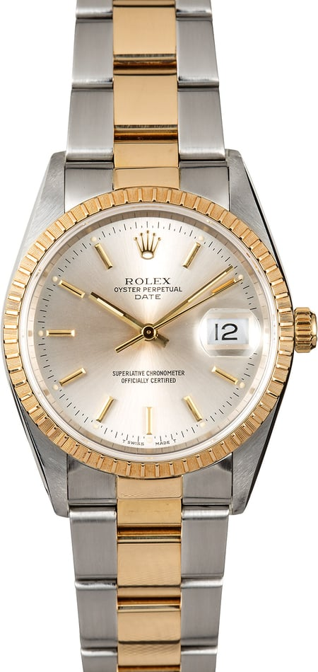 Rolex Oyster Perpetual Date 15223 Two-Tone