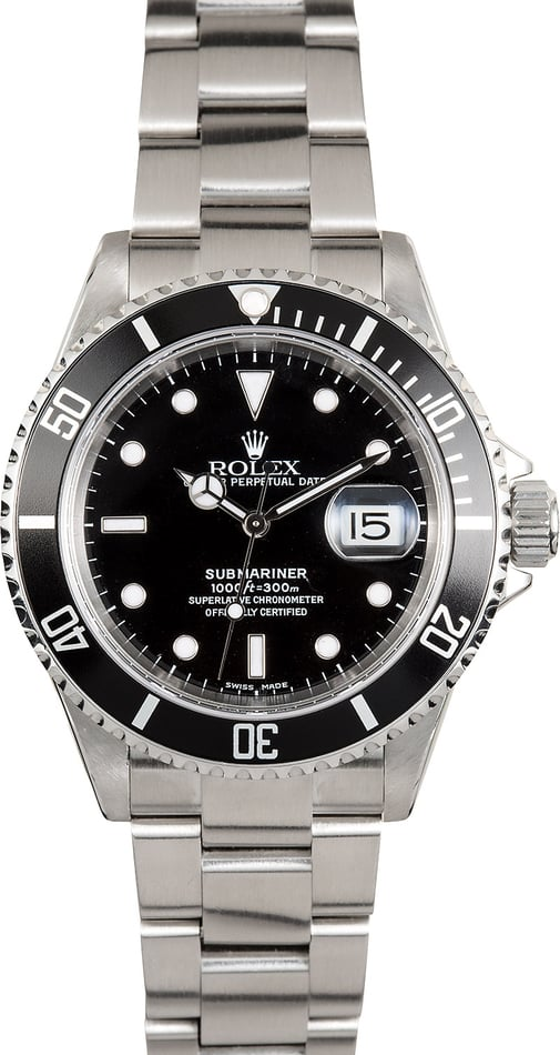 Rolex Oyster Perpetual Submariner 16610 No Holes Case