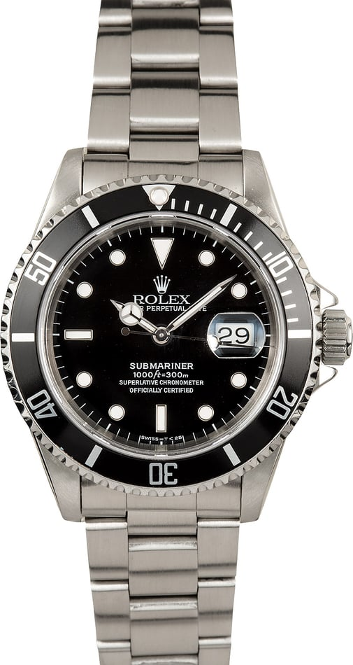 Rolex Oyster Perpetual Submariner 16610 Steel