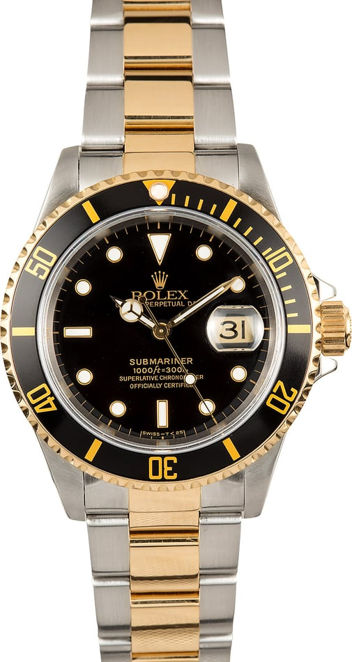 Rolex Oyster Perpetual Submariner 16613 Black Dial