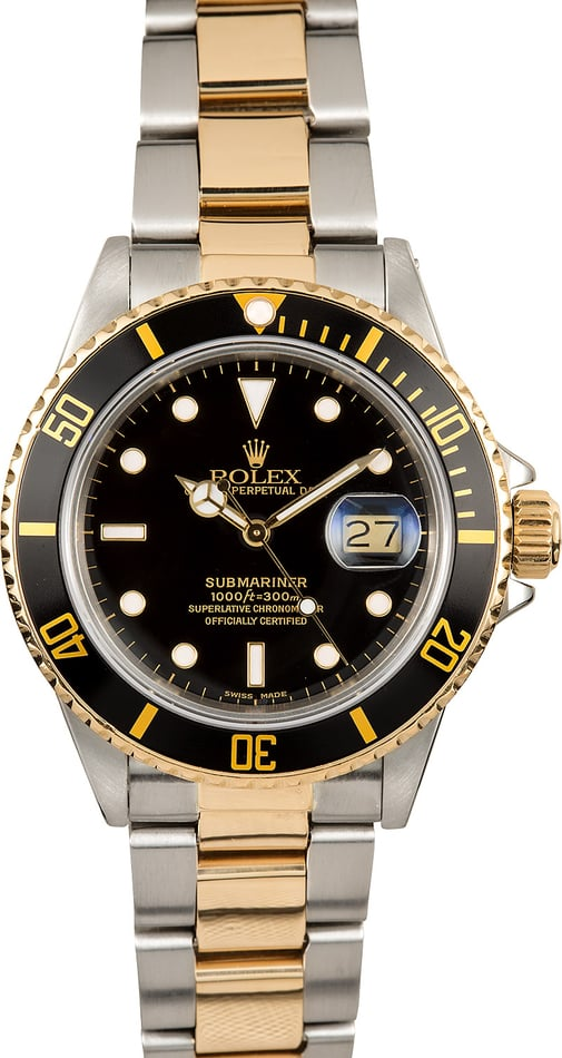 Rolex Oyster Perpetual Submariner 16803 Two-Tone
