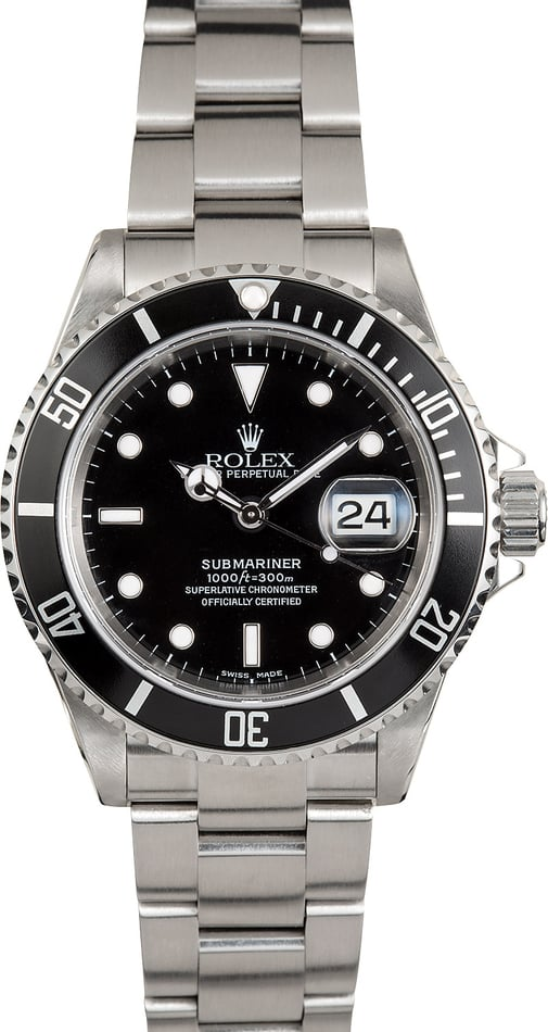Rolex Oyster Submariner 16610 No Holes