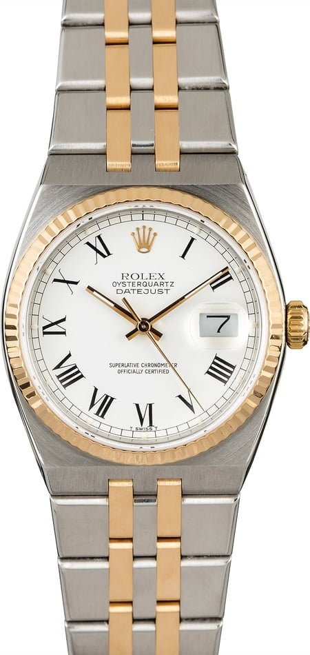 Rolex OysterQuartz Datejust 17013 Two Tone Integral