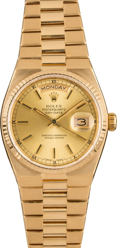 Rolex OysterQuartz 19018 Day-Date Integral Band