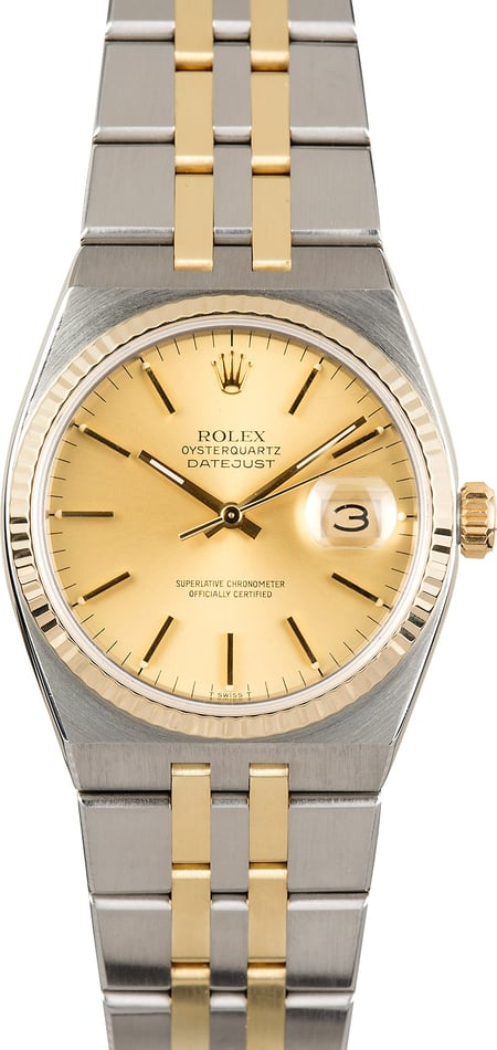 Rolex Oysterquartz Datejust 17013 Certified Pre Owned
