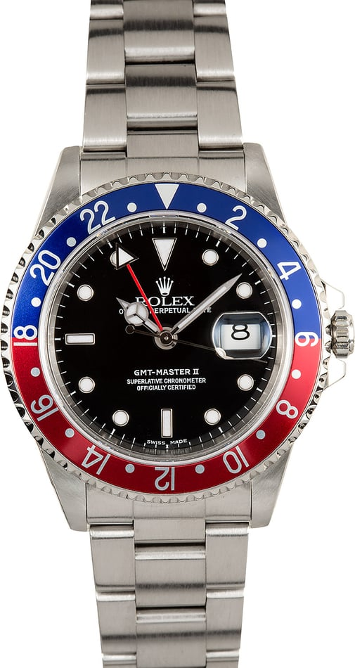 Rolex Pepsi GMT Master II 16710 100% Authentic