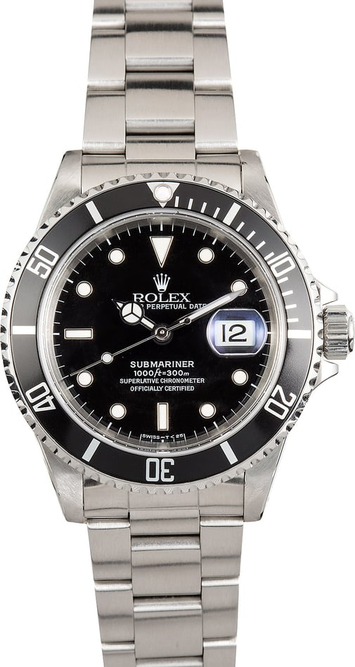 Rolex Pre-Owned Submariner 16610 Steel