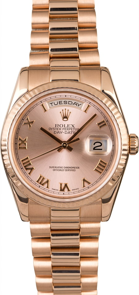 Men's Rolex President Day-Date Everose Gold 118235