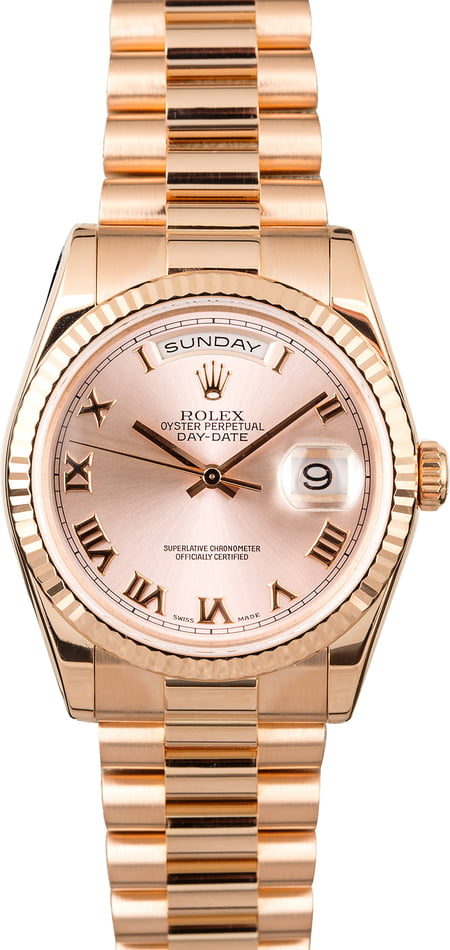 PreOwned Rolex President Day-Date Everose Gold 118235