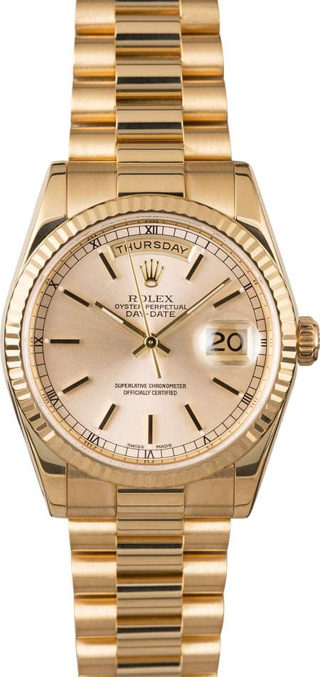 Rolex Day Date 118238 Silver Dial