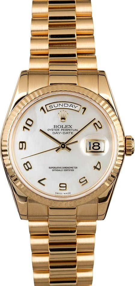 Used Rolex Day-Date 118238 Mother of Pearl Dial