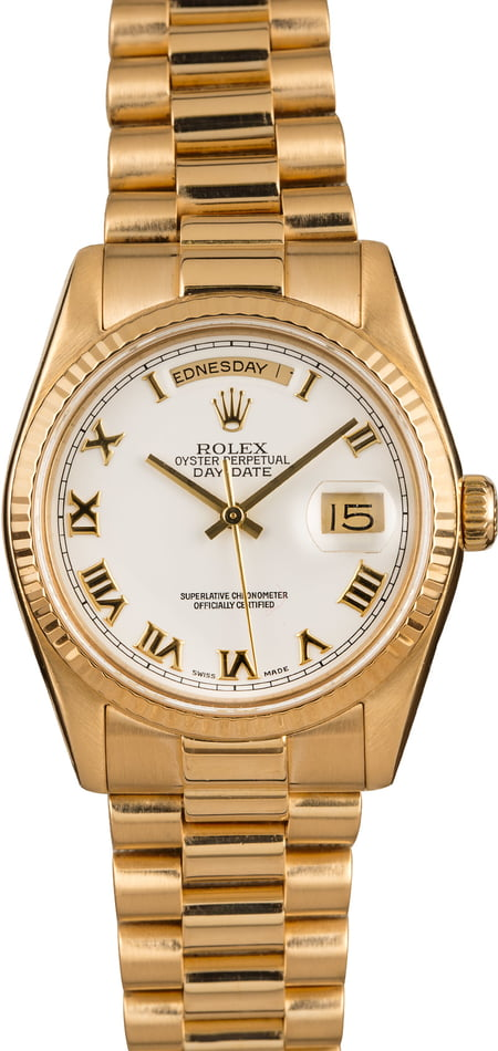 Used Rolex President 118238 Roman Dial