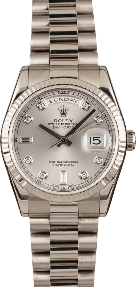 Pre-Owned Rolex President 118239 White Gold