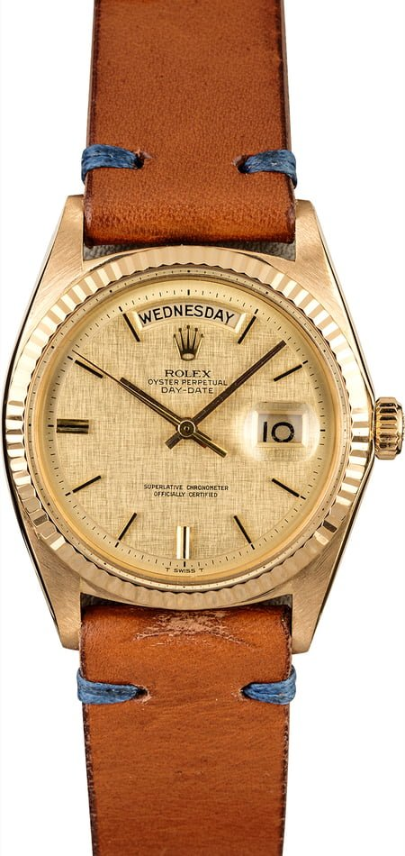 Rolex President Day-Date 1803 Champagne Linen Dial