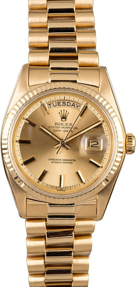 Rolex President 1803 Champagne 'Pie Pan' Dial