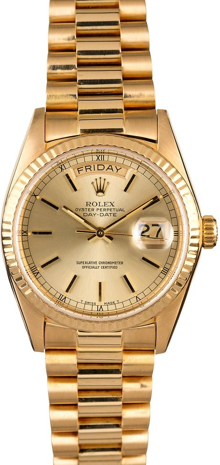 Rolex President 18038 Yellow Gold