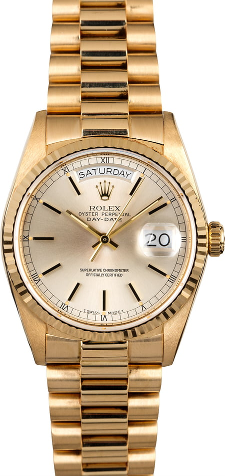 Rolex President 18038 Yellow Gold Watch