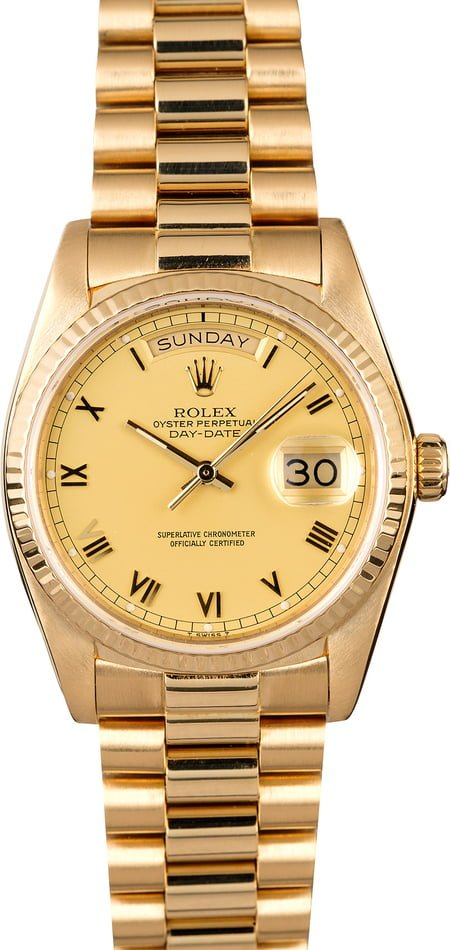 Used Rolex President 18038 Champagne Dial