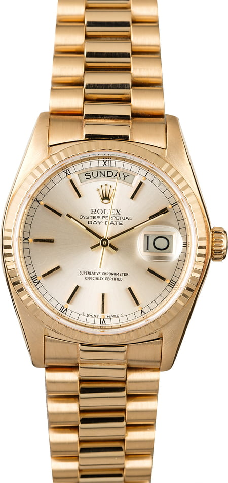 Used Rolex President 18038 Yellow Gold Day-Date