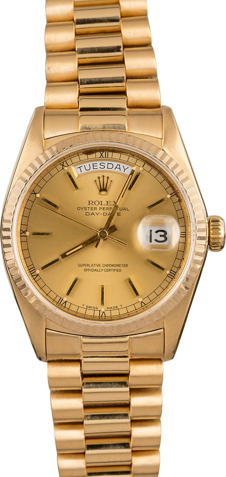 Pre-Owned Rolex President Day-Date 18038 Champagne
