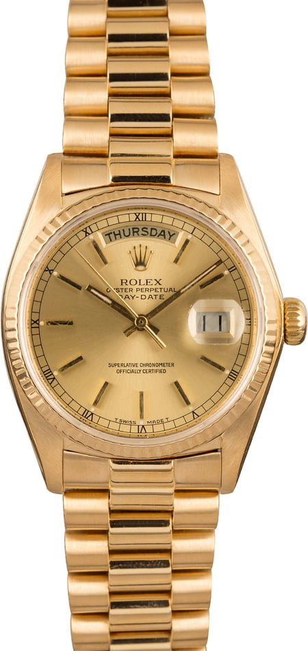 Used Rolex President 18038 Index Dial