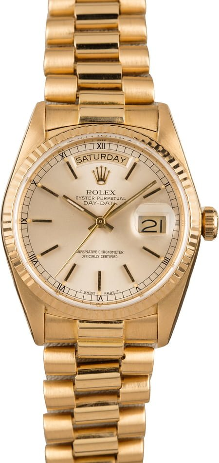 Rolex President Day,Date 18038 Yellow Gold