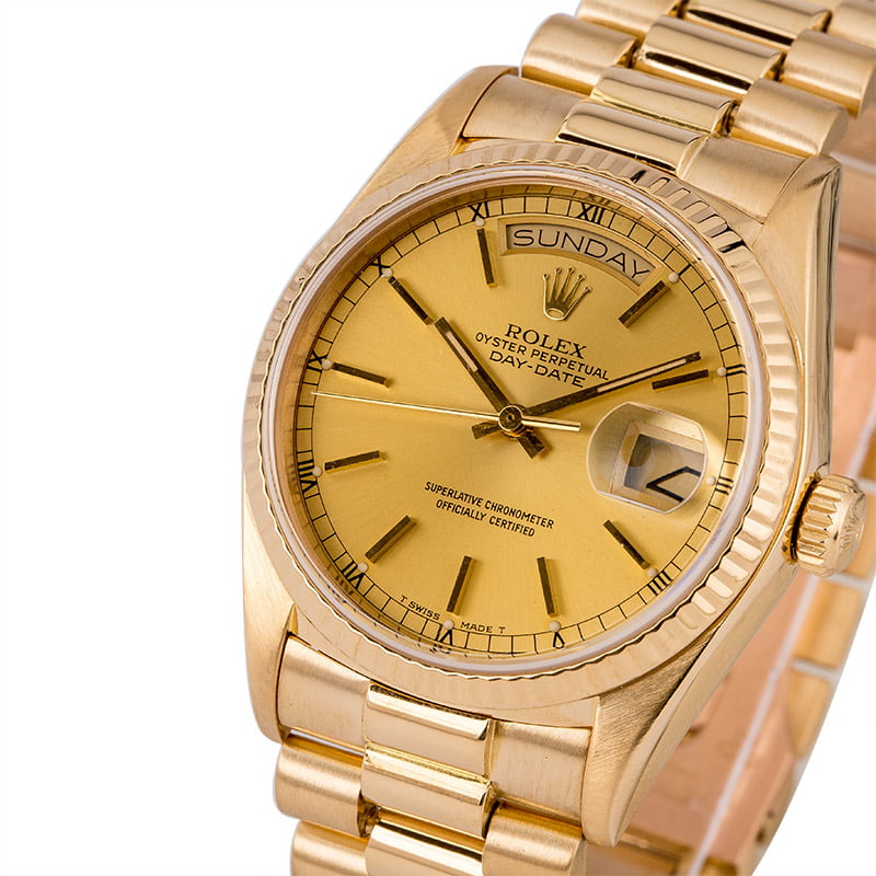 bbda9074a04 26 Certified Pre-Owned Rolex President watches for Sale | Bob's Watches