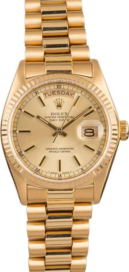 Pre-Owned Rolex 18038 President