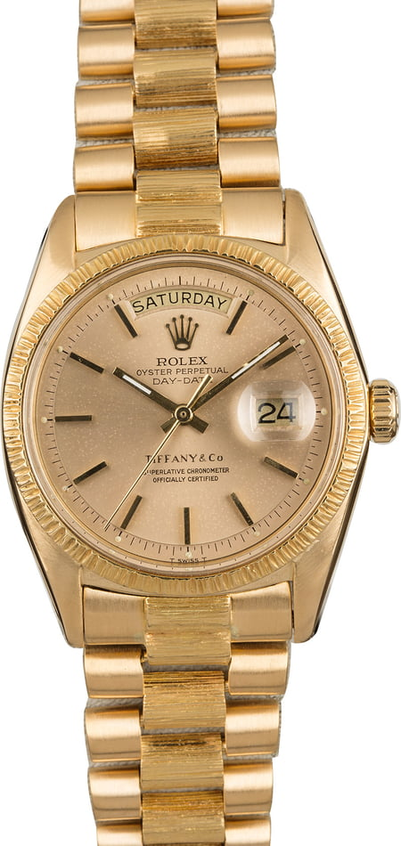 Pre Owned Rolex President 1807 Tiffany & Co Dial