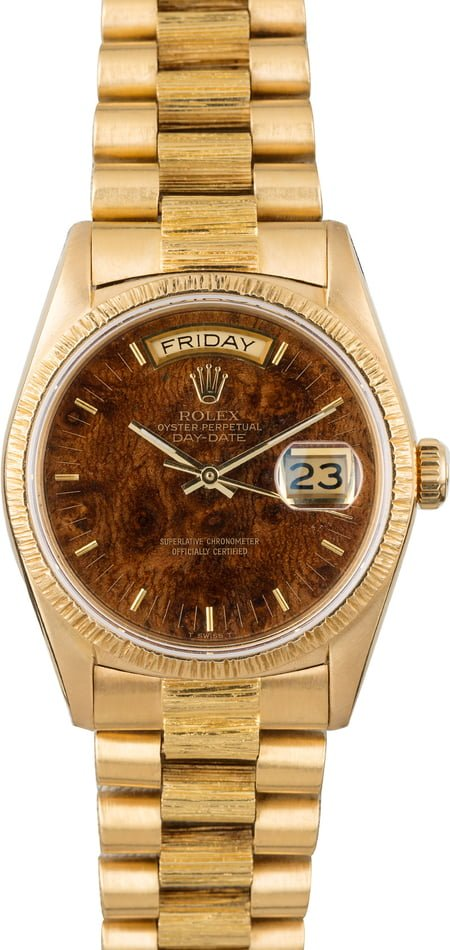 Used Rolex President Day-Date 18078 Wood Dial
