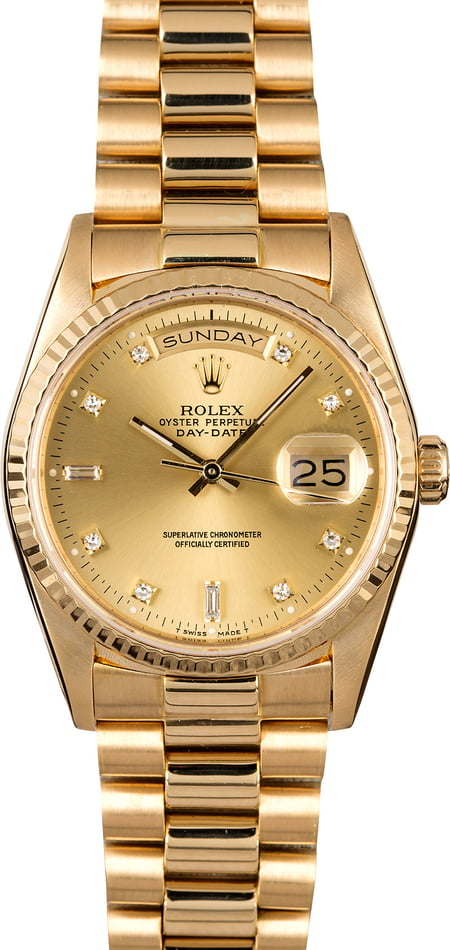 Rolex President 18238 with Diamond Dial
