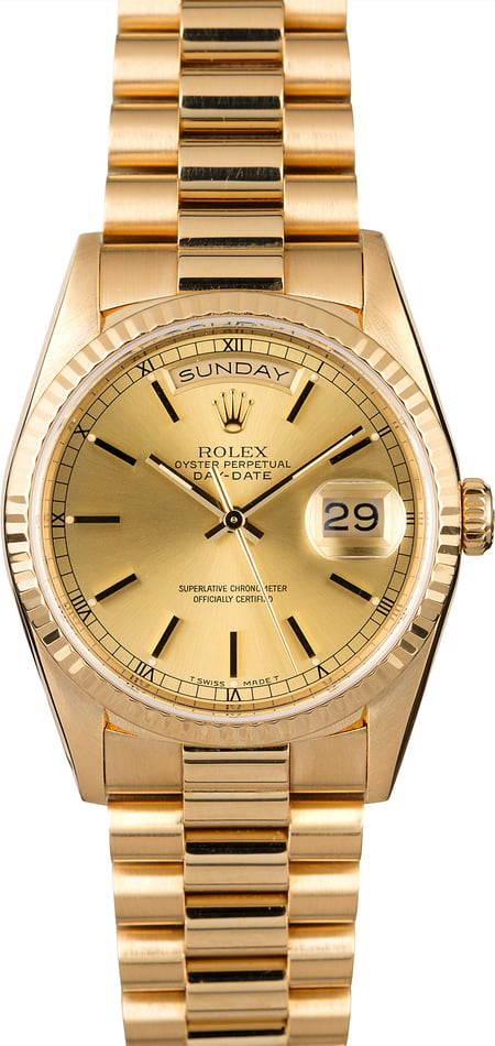 Used Rolex President 18238 Yellow Gold Day-Date