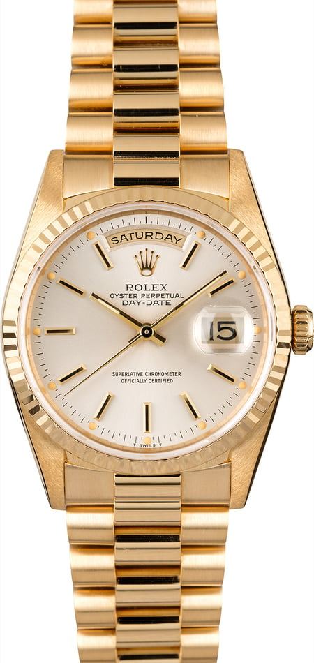Rolex President 18238 Silver Dial Day-Date