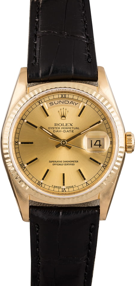 Used Rolex President 18238 Day-Date Leather Strap