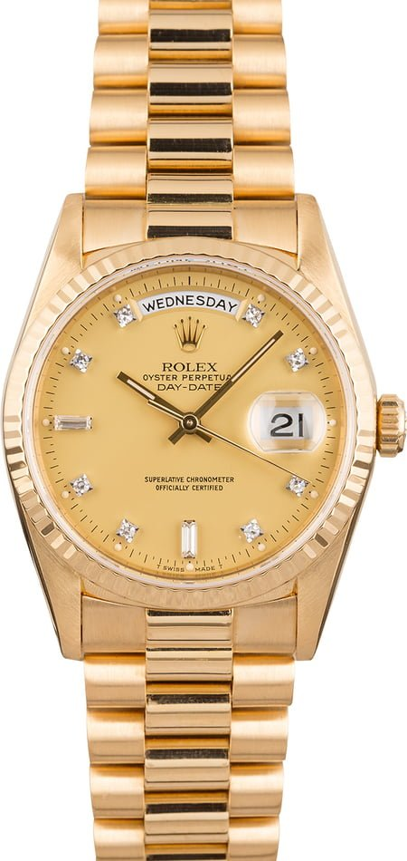 Pre Owned Rolex President 18238 Diamond Dial