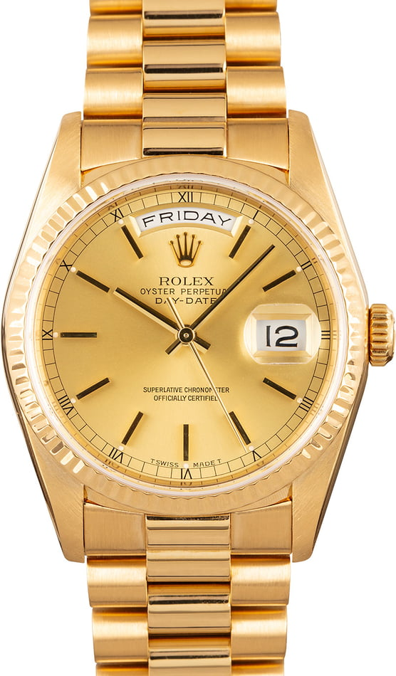 Rolex President Gold Day-Date 18238 Champagne Dial