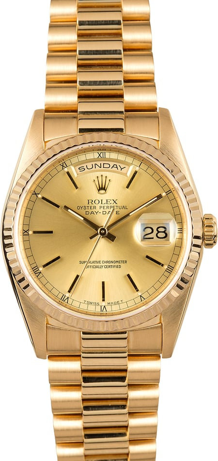 Rolex President 18238 Yellow Gold