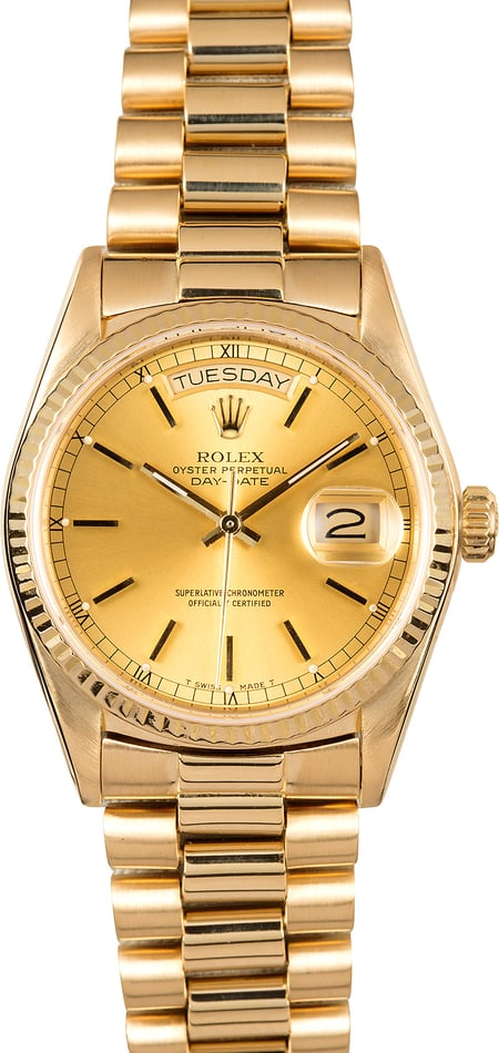 Rolex President 18k Gold Day-Date 18038