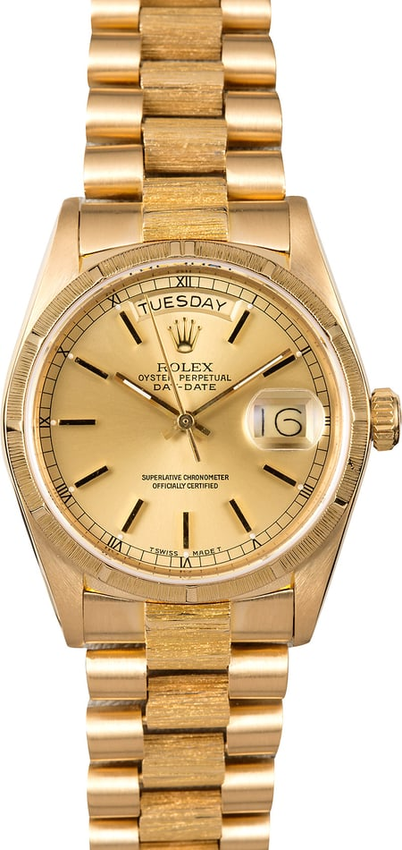Rolex President Bark Finish 18078