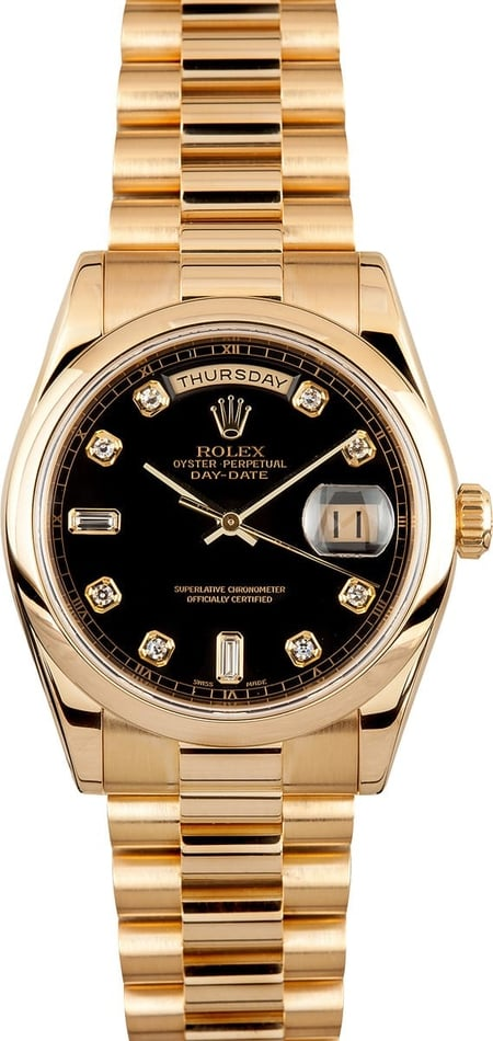 Rolex Men's President Gold Day-Date 118208