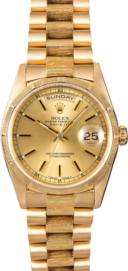 Rolex Presidential 18248 Bark Finish