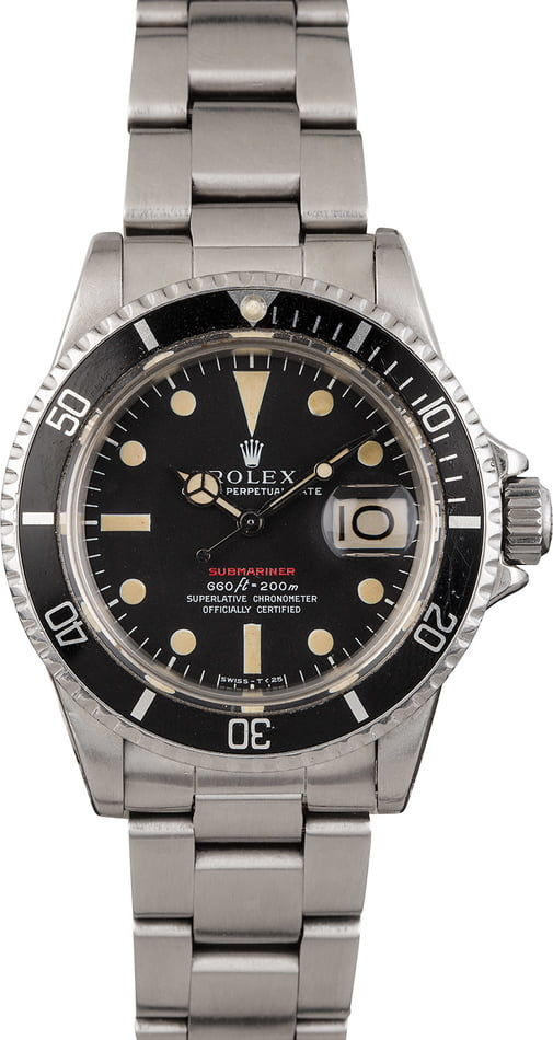 Vintage 1971 Rolex Red Submariner 1680 Mark 4 Dial