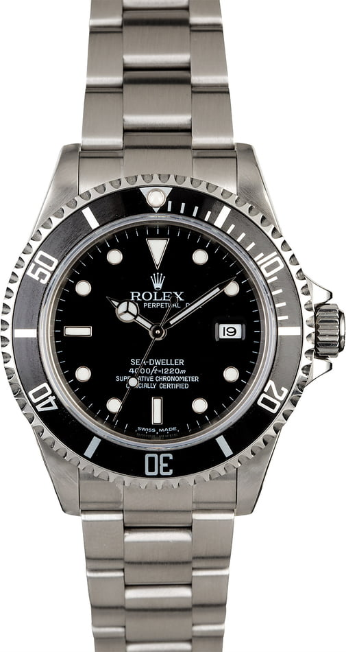 Men's Rolex Sea-Dweller 16600 Timing Bezel