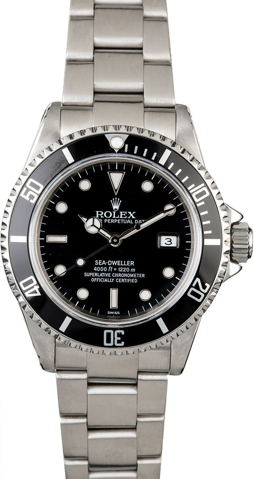 Rolex Sea-Dweller 16600 Black Timing Bezel