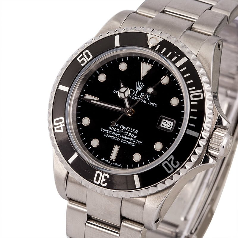Rolex Sea Dweller 16600 Stainless Steel Luminous Markers Rolex Box Papers Circa 2000