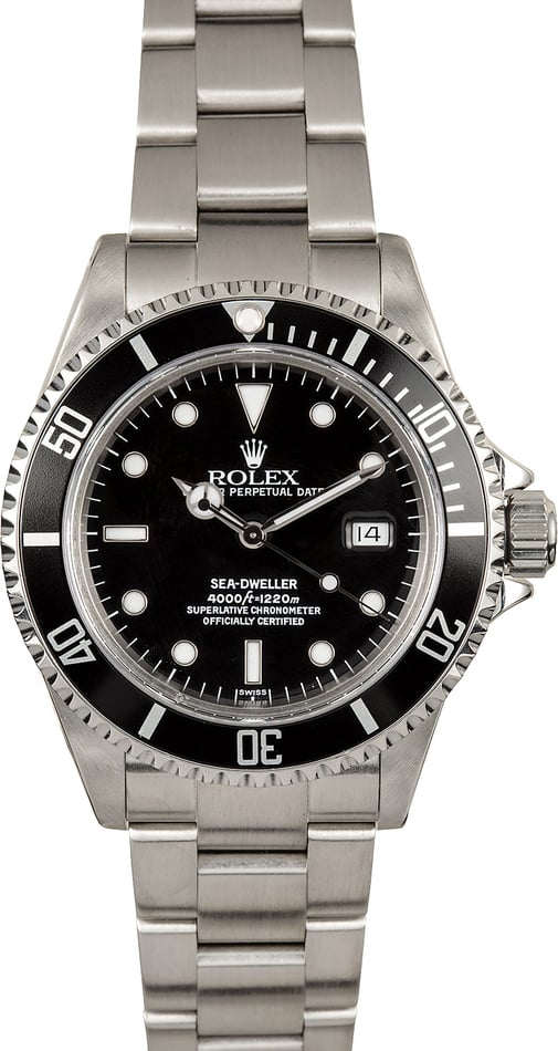 Rolex Sea-Dweller 16600 Stainless 100% Authentic