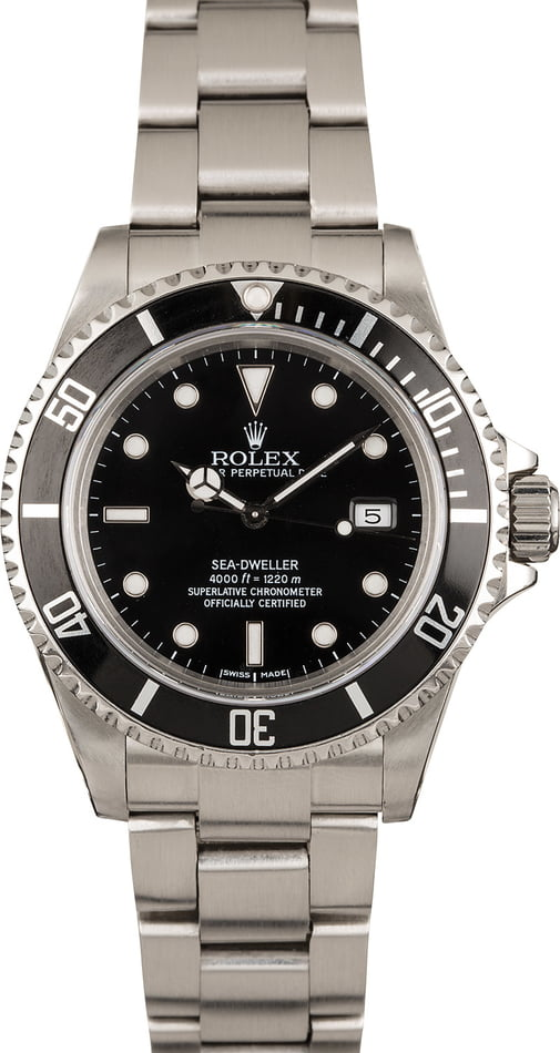 Used Rolex Sea-Dweller 16600 Black Luminescent Dial