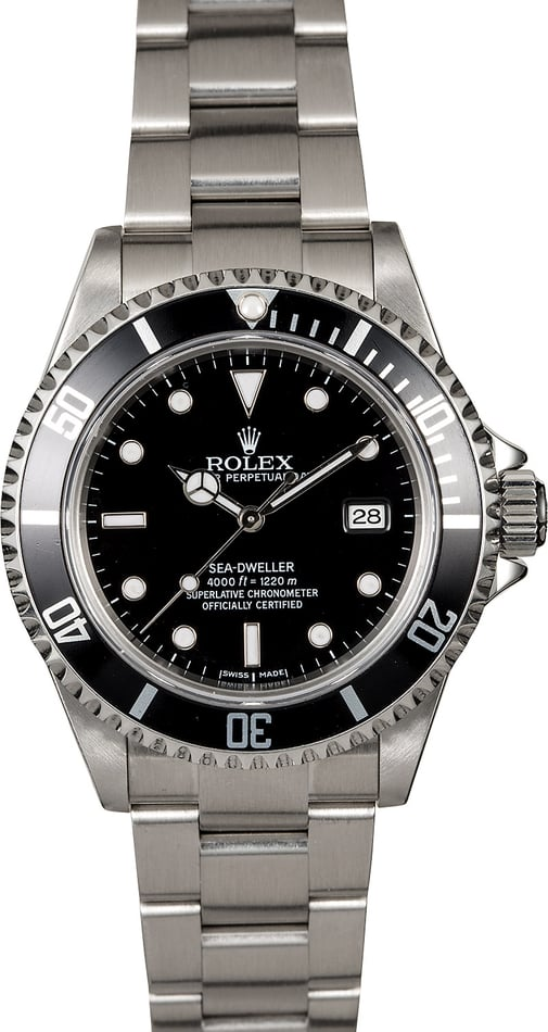Rolex Sea-Dweller 16600 Black Dial Men's Watch
