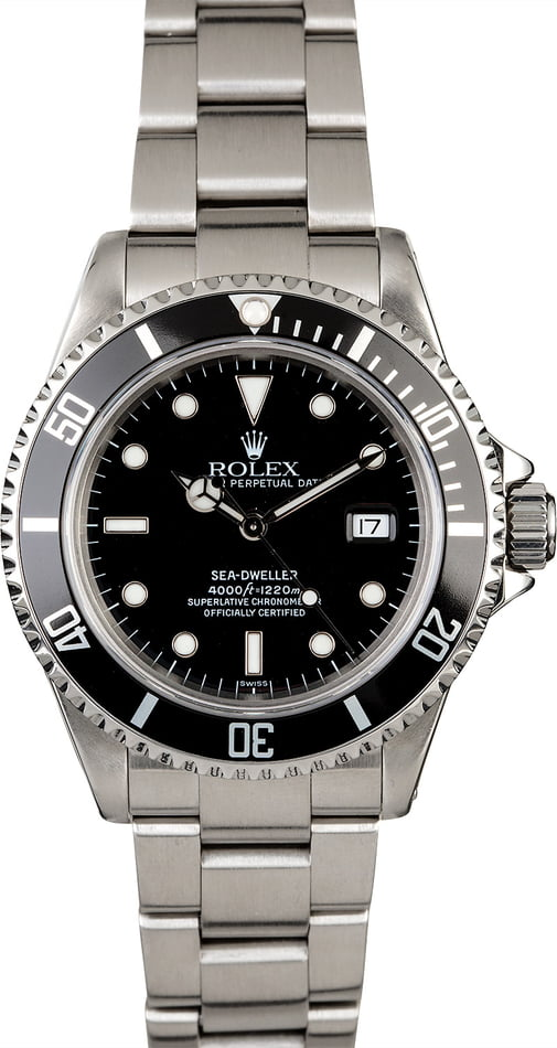 Men's Certified Rolex Sea-Dweller 16600 Diving Watch