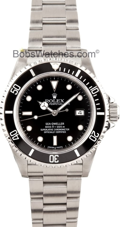 Pre-owned Mens Rolex Sea-Dweller Model 16600 Stainless, Slighlty Used